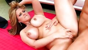 Engaging slut is drilled with heavy hard dick